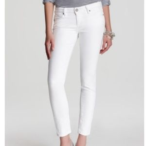 Paige Verdugo Ankle White Skinny Jeans